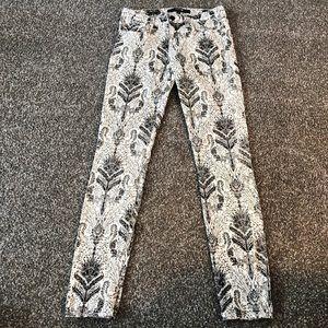 Joe's Jeans black white Jacquard toile print 26